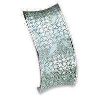 Sterling Silver 30mm Green Resin Cuff Bangle Bracelet Allure-Jewelers. $200.89. Width 1.17 in. Length 7 in. Polished