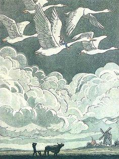 The Wonderful Adventures of Nils, Selma Lagerlöf.  Illustrated by Boris Diodorov.