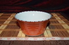 "Asian Porcelain Blue and White Bamboo, Rice or Noodle Bowl Marked 4 1/2""x2 1/4"""