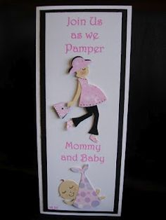 Baby shower invitation using my Cricut!