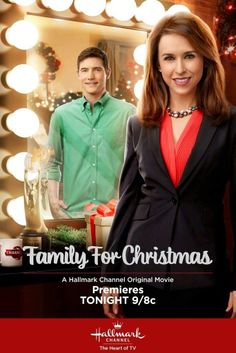 Its a Wonderful Movie - Your Guide to Family Movies on TV: Lacey Chabert stars in 'Family for Christmas' on the Hallmark Channel Family Christmas Movies, Christmas Movie Night, Hallmark Christmas Movies, Hallmark Movies, Family Movies, Christmas 2015, Christmas Poster, Holiday Movies, Office Christmas Party