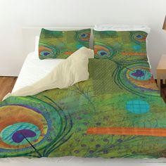 Peacock Pattern 2 Duvet Cover
