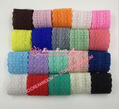 BF01 12 Yard Bilateral Handicrafts Embroidered Net Lace Trim Ribbon Wholesale #Unbranded