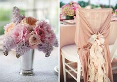 i am in LOVE with the flower colors on the left...love the different shades of pink, lavender, and then a hint of orange