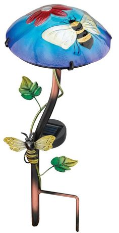 Garden Solar Light Stake Patio Decor Stakes Outdoor Decoration Planter Yard New #Unbranded