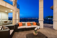 Enjoy the view of the magnificent city lights from this beautiful terrace. --Lancaster, Calif.