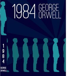 1984 is one of the best books I read. And this is a study of a cover that conveys the message of the book. Book Cover Design, Book Design, Good Books, My Books, Nineteen Eighty Four, Freedom Of The Press, George Orwell, Motion Graphics, Book Covers