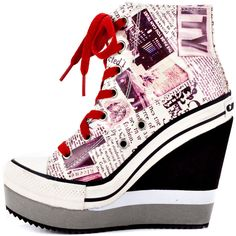 Lulu - Black White  Rock & Candy...I'm not into the sneaker heel, but these are kinda cute...pair them with some skinnies and a sweatshirt...comfy!