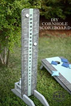 Visit our website for free tutorial and printable PDF of how to build a cornhole scoreboard. Build it with construction lumber using basic tools. basic home decor DIY Cornhole Scoreboard Cornhole Scoreboard, Diy Cornhole Boards, Cornhole Set, Woodworking Workshop, Fine Woodworking, Green Woodworking, Rockler Woodworking, Woodworking Furniture, Woodworking Projects