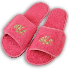 Slippers - Hot Pink Terrycloth