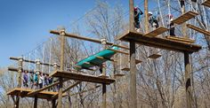 Participants in many Diakon Wilderness Center and Diakon Youth Services programs take part in challenge activities on the high-ropes course at the Boiling Springs, Pa. High Ropes Course, Boiling Springs, Backyard Obstacle Course, Outdoor Fun For Kids, Youth Services, Service Program, Park Playground, Outdoor Recreation, Wilderness