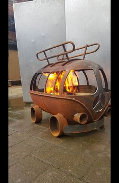 Feuerschalen & -stellen - Bulli t1 Feuerschale - ein Designerstück von besonderemoebel bei DaWanda ähnliche tolle Projekte und Ideen wie im Bild vorgestellt findest du auch in unserem Magazin . Wir freuen uns auf deinen Besuch. Liebe Grüße