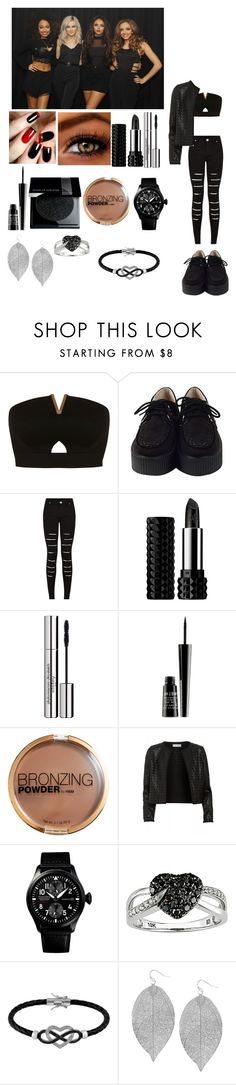 """""""Salute tour w/ Little Mix"""" by rosemie ❤ liked on Polyvore featuring Miss Selfridge, Kat Von D, Sisley Paris, Lord & Berry, H&M, Maglie I Blues, Ice, Jewel Exclusive, Humble Chic and morelikesjul"""