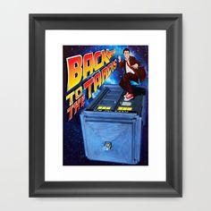 Back to the Tardis doctor who Framed Art Print #artprint #artdesign #frameart…