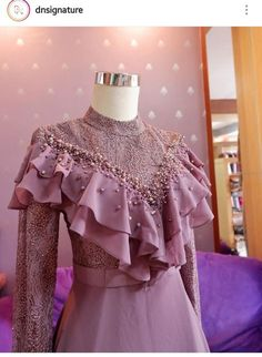 24 Trendy Ideas For Style Hijab Casual Kondangan Dress Brukat, Hijab Dress Party, Kebaya Dress, Dress Pesta, Dress Outfits, Fashion Dresses, Hijab Casual, Casual Dresses, Kebaya Muslim
