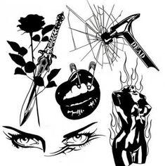 Tattoo designs drawings artists black ideas - New Site Tattoo Designs, Tattoo Design Drawings, Tattoo Sketches, Flash Art Tattoos, Black Ink Tattoos, Cute Tattoos, Tattoo Black, Tatuagem Old Scholl, Badass Drawings
