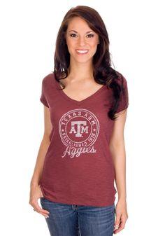 Texas A Women's V-Neck Shirt
