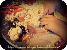 Sable de lune : sable tout doux fait à base de produits alimentaires !