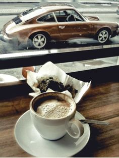 sport car, style, porsche 911, café, cafe, coffee time, cup of coffee, fast car, thing