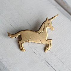 Unicorn Brooch ... Mythical Horse Vintage by SilkPurseSowsEar