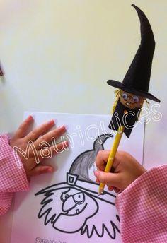 Mauriquices: A bruxa que escrevia com fios de água... Chocolate, Halloween, Corks, Writing, Strands, Hand Crafts, Poem, Schokolade, Chocolates