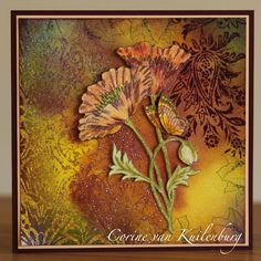 Corine's Gallery: Chocolate Baroque Pretty Poppies Baroque Art, Card Tutorials, Card Making Inspiration, Sympathy Cards, Types Of Art, Flower Cards, Paper Art, Paper Crafts, Mixed Media Art