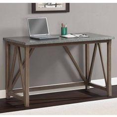 Zinc Top Bridge Desk | Overstock.com Shopping - The Best Deals on Desks