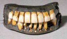 The only surviving complete set of George Washington's dentures, ca. 1790-1799. From Mount Vernon Ladies' Association