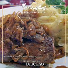 Lomito Grilletes en compota de cebolla y champiñón es una de nuestras especialidades del nuevo menú #SencillamenteDelicioso #Gastronomía #gourmet #Guayana #almuerzo #cena #gastronomy #lunch #supper #PZO