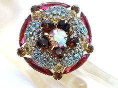 Lava Rock Rhinestone Brooch High End Prong Set Pin AB Pin Fashion Jewelry