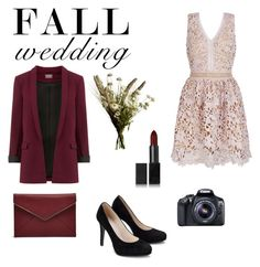 """""""Wedding guest : fall 2016 edition."""" by fashioncupcake900 ❤ liked on Polyvore featuring Rebecca Minkoff, Abigail Ahern, NARS Cosmetics and Eos"""