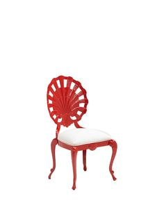Veneman Shell Cast Aluminum Dining Side Chair