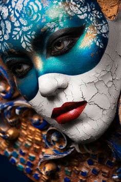 Bodypainting, special effects makeup, extreme makeup, venetian masks, carne Make Up Art, How To Make, See Tattoo, Extreme Makeup, Fantasy Make Up, Theatrical Makeup, Carnival Masks, Special Effects Makeup, Fx Makeup
