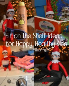 Easy Elf on the Shelf ideas for busy parents. Use your elf to help instill habits you want in your kids, like helping with laundry and wearing sunscreen. Ideas for quality family time. #elfonashelf