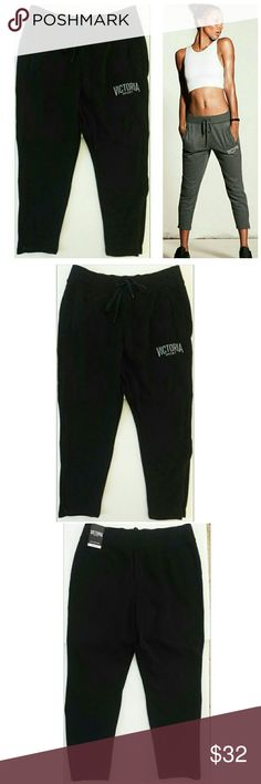 Victoria's Secret Sport Slim Sport Pants Black M New with tags Victoria Sport Slim Sport Pants Color Black, Stock Pic To Show Fit Size Medium Zipper Ankles, Drawstring Waist Was sent the wrong size and I forgot to return Reasonable offers considered No trades Victoria's Secret Pants Track Pants & Joggers