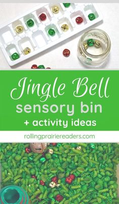 Jingle Bell Sensory Bin + Activity Ideas - Rolling Prairie Readers - Are you looking for fun Christmas sensory activities for your kids? This Jingle Bell sensory bin wi - Christmas Activities For Kids, Preschool Christmas, Toddler Christmas, Simple Christmas, Christmas Ideas, Winter Activities, Christmas Countdown, Outdoor Christmas, Family Christmas