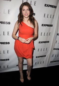 Anna Kendrick looks Beautiful, Gorgeous, Sexy, Pure and Stunning Orange Dress.
