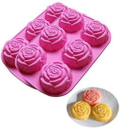 1.58inch Set of 2 BAKER DEPOT 15 Holes Cylinder Silicone Mold for Handmade soap Jelly Pudding Cake Baking Tools Biscuit Cookie Molds Hole Dia