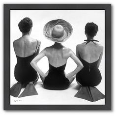 "Americanflat ""Black White 1950s Swim Suit Models"" Framed Wall Art ($85) ❤ liked on Polyvore featuring home, home decor, wall art, art, bodies, multicolor, colorful wall art, black and white home accessories, framed wall art and 1950s home decor"