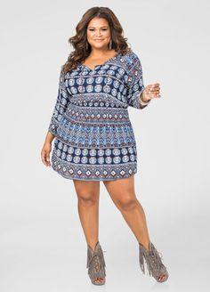 a7afa02b008 Boho Print Tunic Dress Boho Print Tunic Dress Ashley Stewart