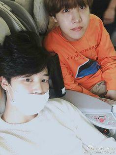 Chim Chim and Hobi - BTS Weibo