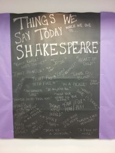 Here's a bulletin board that I had a lot of fun making. 1. It was real simple (as RAs that is exactly what we want) 2. I learned a lot while making it. I was surprised by some of the phrases on the list! I have to give credit to pinterest which is were bigot the idea and this was my way of putting it on my bulletin board! Enjoy!