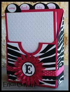 Here's a cool way to keep all your stamped cards organized. Learn how to make your own card keeper box from Erica Cerwin at Pink Buckaroo Designs. This would also make an amazing gift filled … Cute Cards, Diy Cards, Card In A Box, Card Boxes, Paper Boxes, Stampin Up Anleitung, 3d Paper Crafts, Stampin Up Catalog, Card Organizer