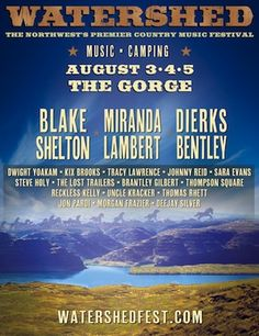 Watershed Festival - August, George, WA at the Gorge