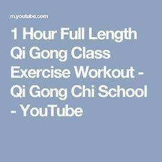 1 Hour Full Length Qi Gong Class Exercise Workout - Qi Gong Chi School - YouTube Reiki Meditation, Meditation Music, Tai Chi Moves, Tai Chi Exercise, Tai Chi For Beginners, Medicine Quotes, Tai Chi Qigong, Self Defense Techniques, How To Start Yoga