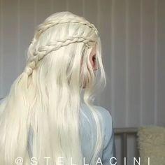 Game of thrones hairstyles - spiel der throne frisuren - jeu de coiffures… in 2020 Elvish Hairstyles, Medieval Hairstyles, Braided Hairstyles, Wedding Hairstyles, Fairy Hairstyles, Witchy Hairstyles, Goddess Hairstyles, The Mother Of Dragons, Hairstyle Tutorial