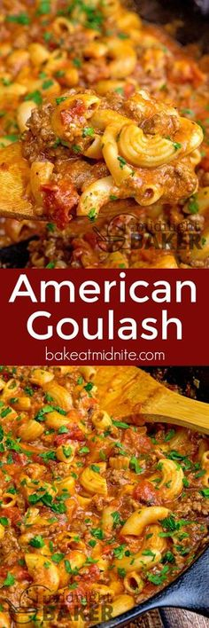 Not only is American goulash quick and easy to make, it's a delicious and timeless comfort food. #groundbeef #goulash #skilletdinners #comfortfood