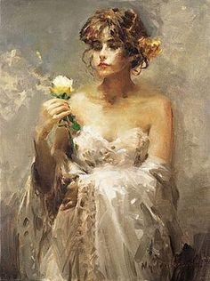 Художник Nydia Lozano. Картины о красоте женщины