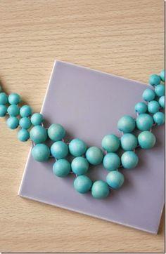 summer statement necklace DIY