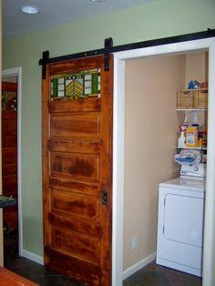 barn door hardware - standard flat track and DIY options